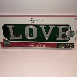 Other - LOVE Metal LED Marquee Sign